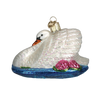 Old Word Christmas Monet's Swan Glass Ornament, OWC-Old World Christmas, Putti Fine Furnishings