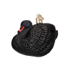 Old Word Christmas Black Swan Glass Ornament, OWC-Old World Christmas, Putti Fine Furnishings