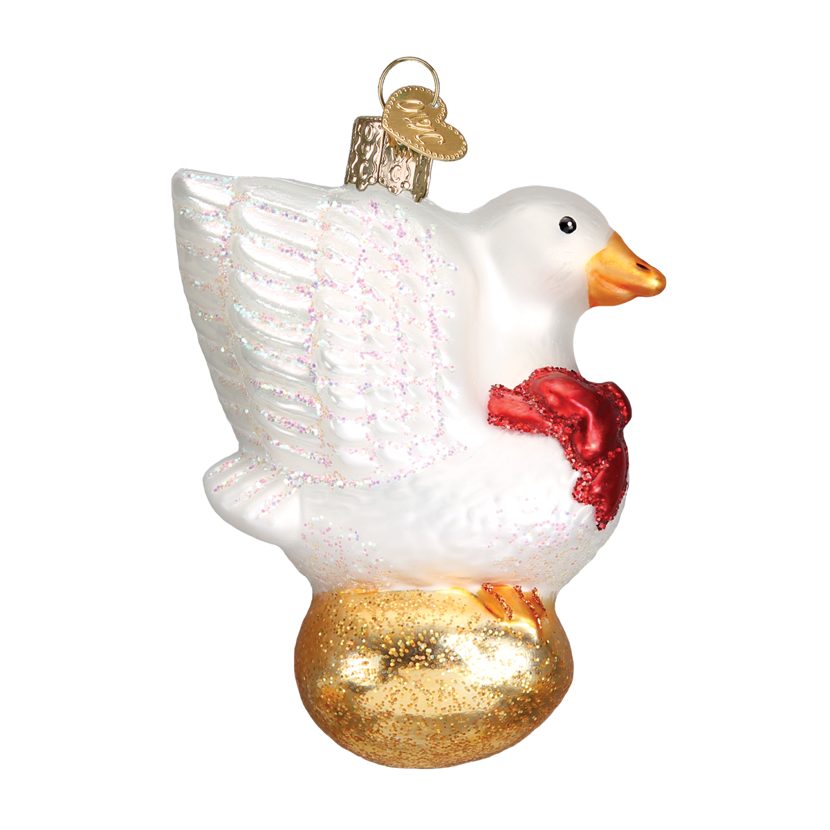 Old World Christmas Golden Goose Glass Christmas Ornament -  Christmas Decorations - Old World Christmas - Putti Fine Furnishings Toronto Canada - 1