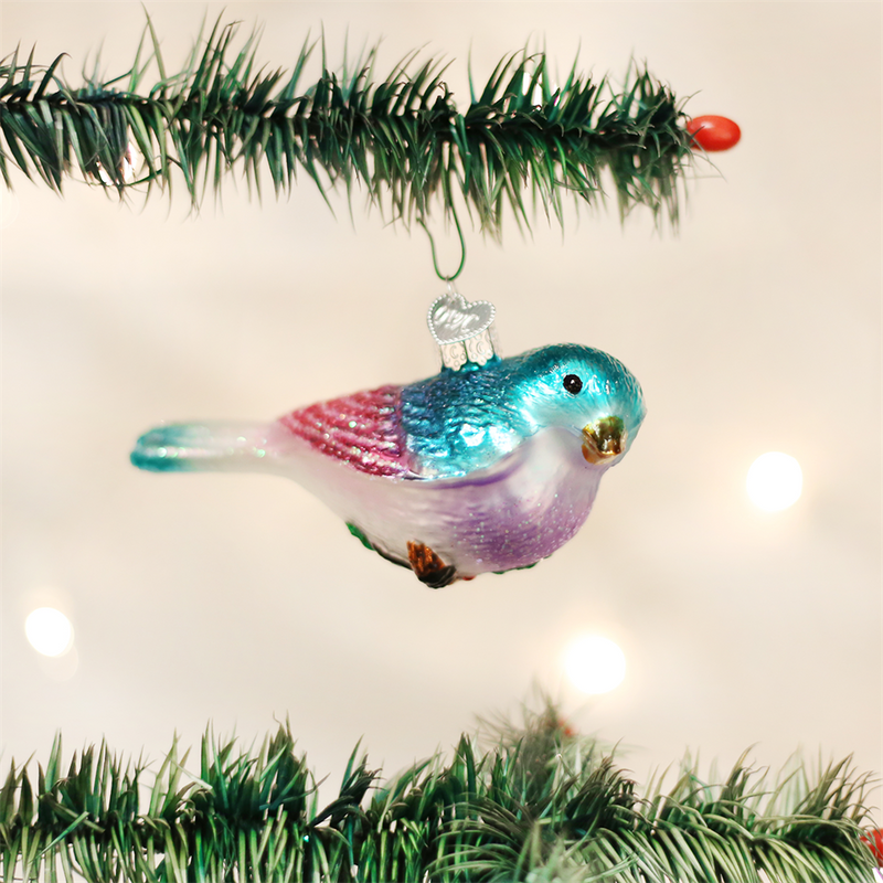 Old Word Christmas Romantic Songbird Glass Ornament -  Christmas Decorations - Old World Christmas - Putti Fine Furnishings Toronto Canada - 1