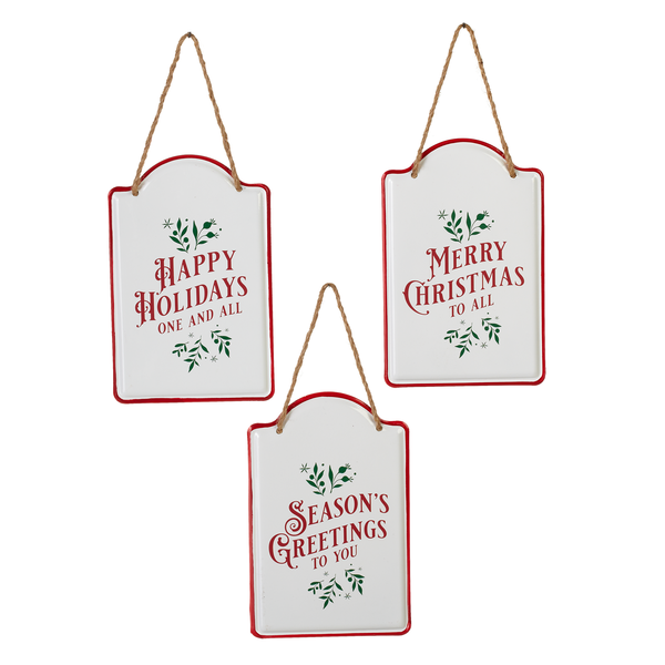 Enamel Tag Holiday Tag Hanger | Putti Christmas Decorations