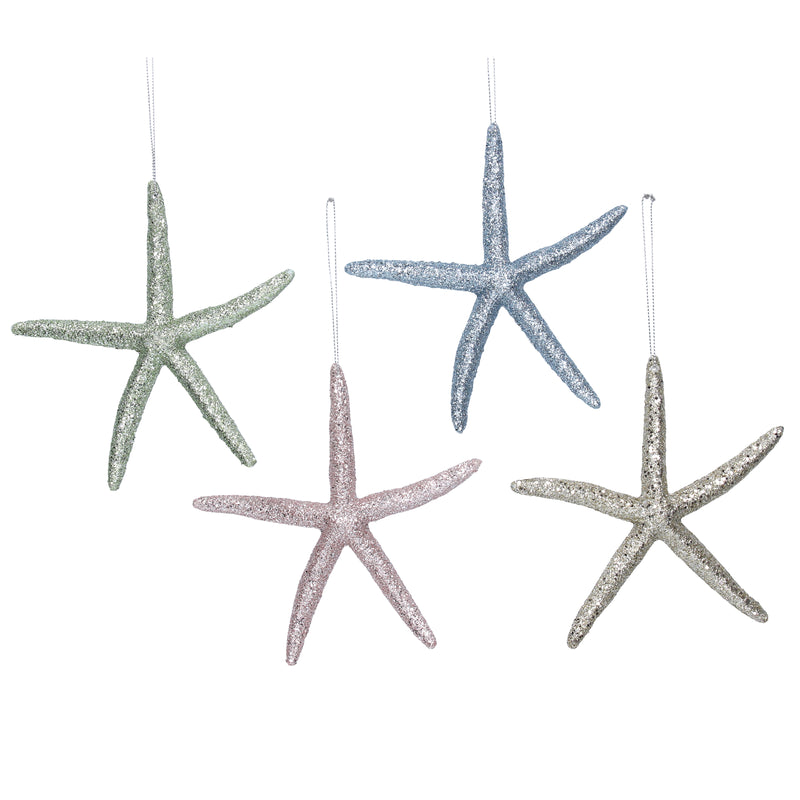 Pastel Acrylic Starfish Ornaments | Putti Christmas Celebrations Canada