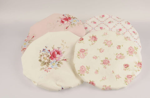 Miss Rose Sister Violet Chintz Shower Cap-Shower Cap-Miss Rose Sister Violet-Faded Pink Roses-Putti Fine Furnishings