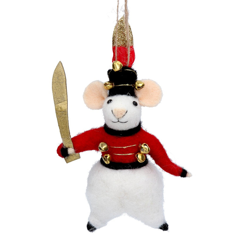 British Soldier Felt Mouse Ornament