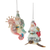Santa on Seahorse and Turtle Glass Ornament