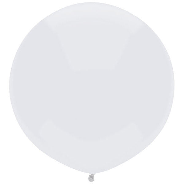 "Round Outdoor Balloon 17""- Glossy White"