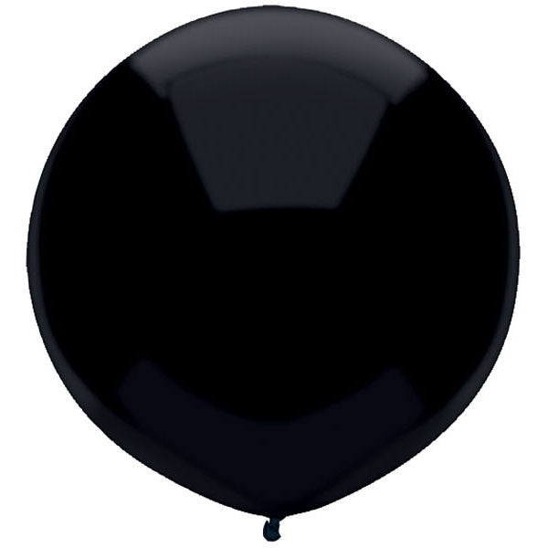 "Round Outdoor Balloon 17""- Pitch Black"