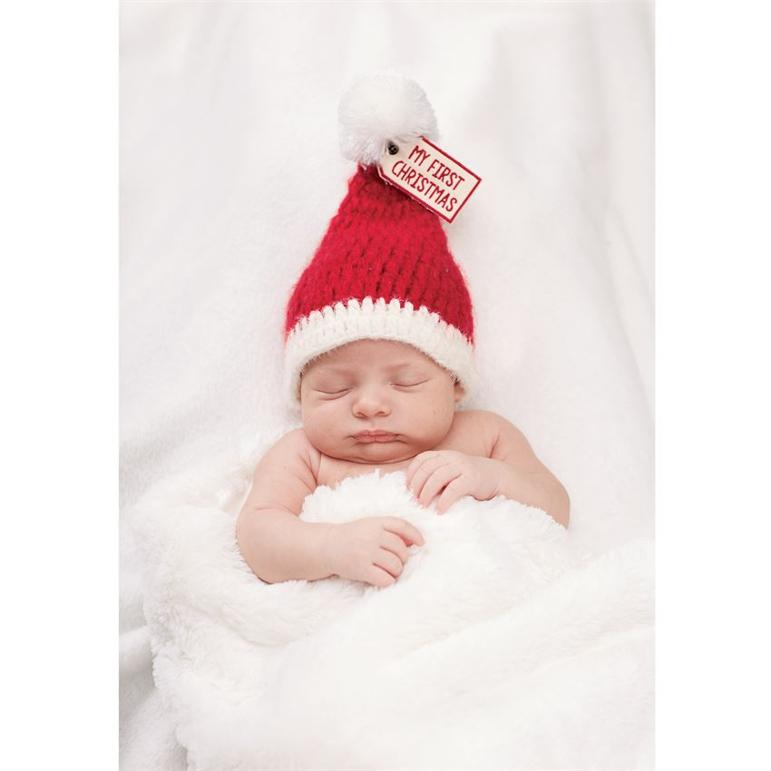 "Mud Pie ""My First Christmas"" Knit Hat"