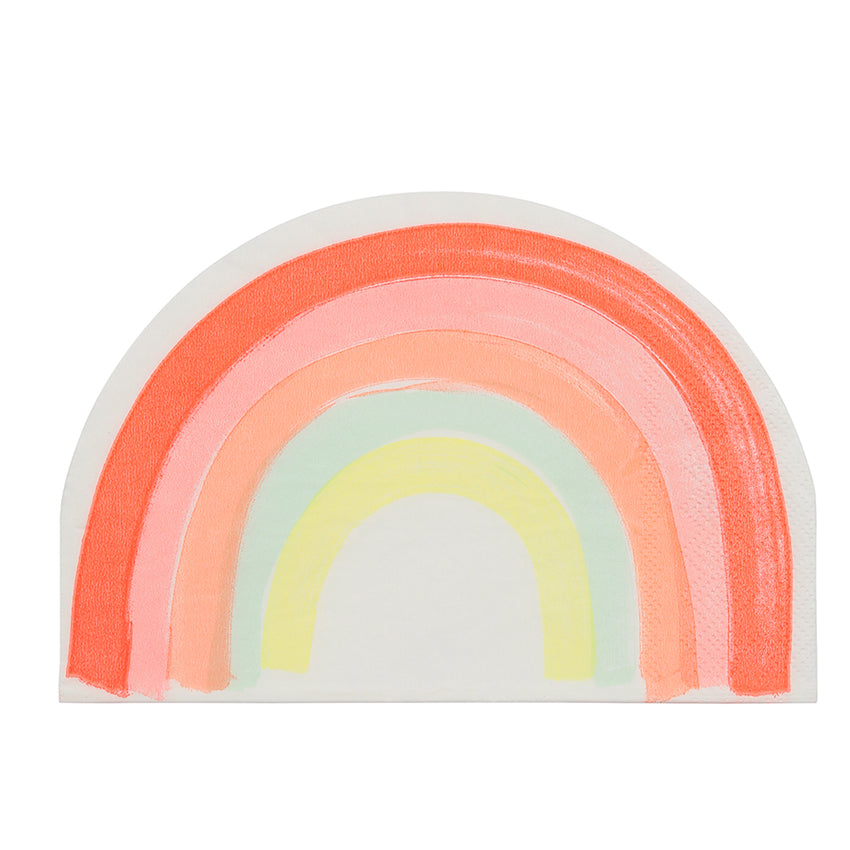 "Meri Meri Die Cut ""Rainbow"" Paper Napkins, MM-Meri Meri UK, Putti Fine Furnishings"