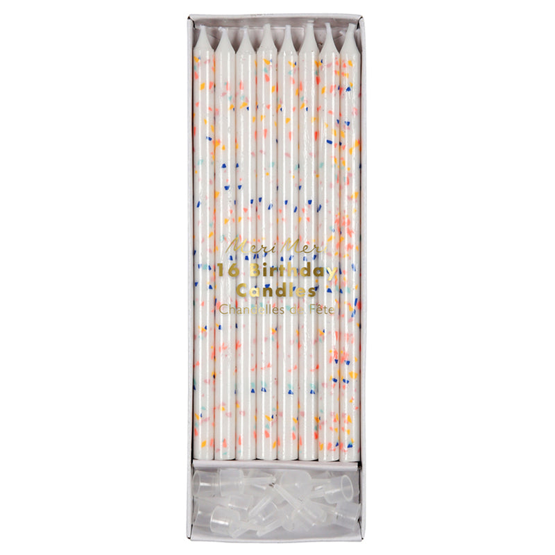 Meri Meri Multi Flecks Birthday Candles, MM-Meri Meri UK, Putti Fine Furnishings