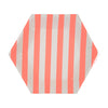Meri Meri Coral Stripe Paper Plates - Small, MM-Meri Meri UK, Putti Fine Furnishings