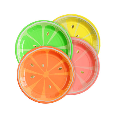 "Meri Meri ""Neon Citrus"" Paper Plates - Small, MM-Meri Meri UK, Putti Fine Furnishings"