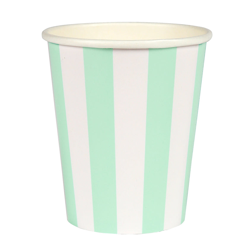 Meri Meri Mint Striped Paper Cups, MM-Meri Meri UK, Putti Fine Furnishings