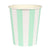Meri Meri Mint Striped Paper Cups