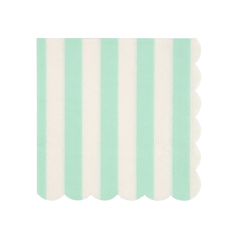 Meri Meri Mint Stripe Paper Napkin - Small, MM-Meri Meri UK, Putti Fine Furnishings
