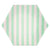 Meri Meri Mint Stripe Paper Plates - Large, MM-Meri Meri UK, Putti Fine Furnishings