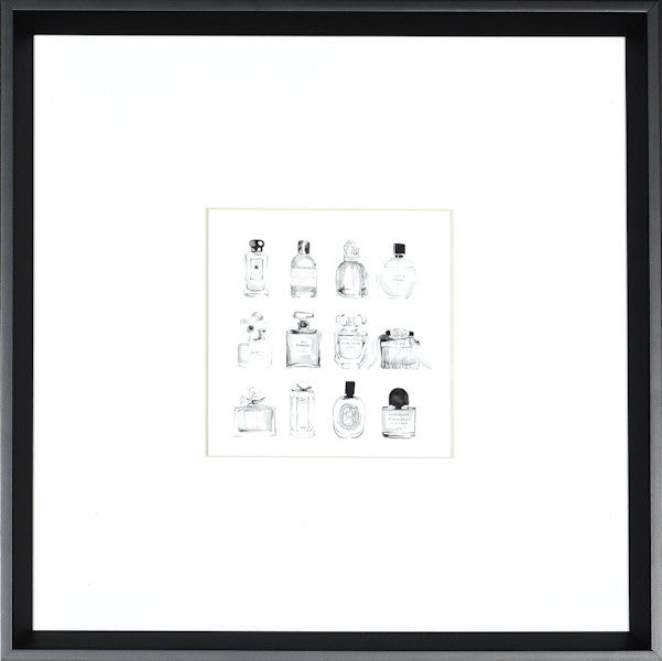 """Mini Perfume"" Framed Art Print-Artwork-Cel Arts Studio-Black Frame (special order)-Putti Fine Furnishings"