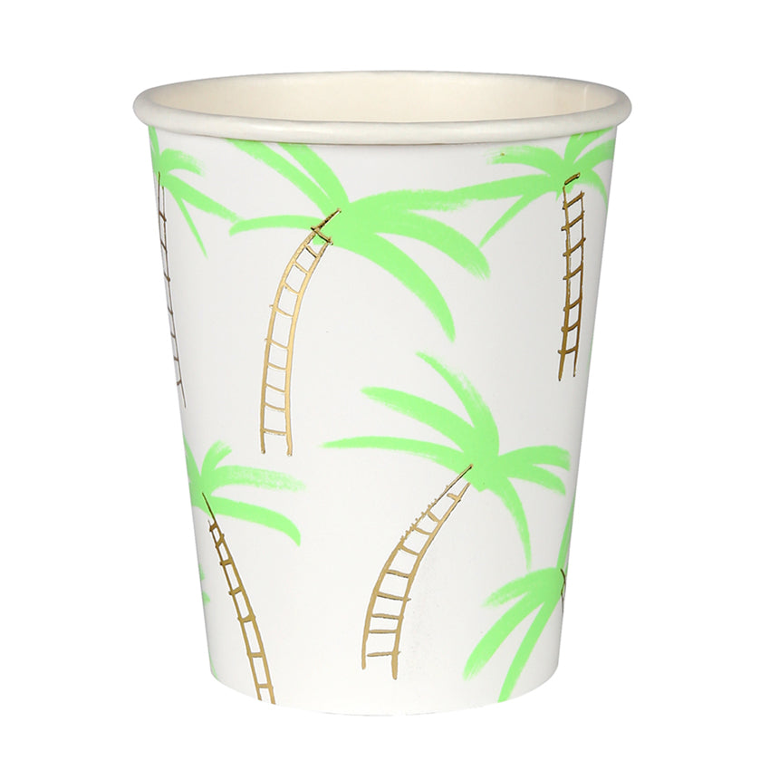 Meri Meri Palm Trees Paper Cups, MM-Meri Meri UK, Putti Fine Furnishings
