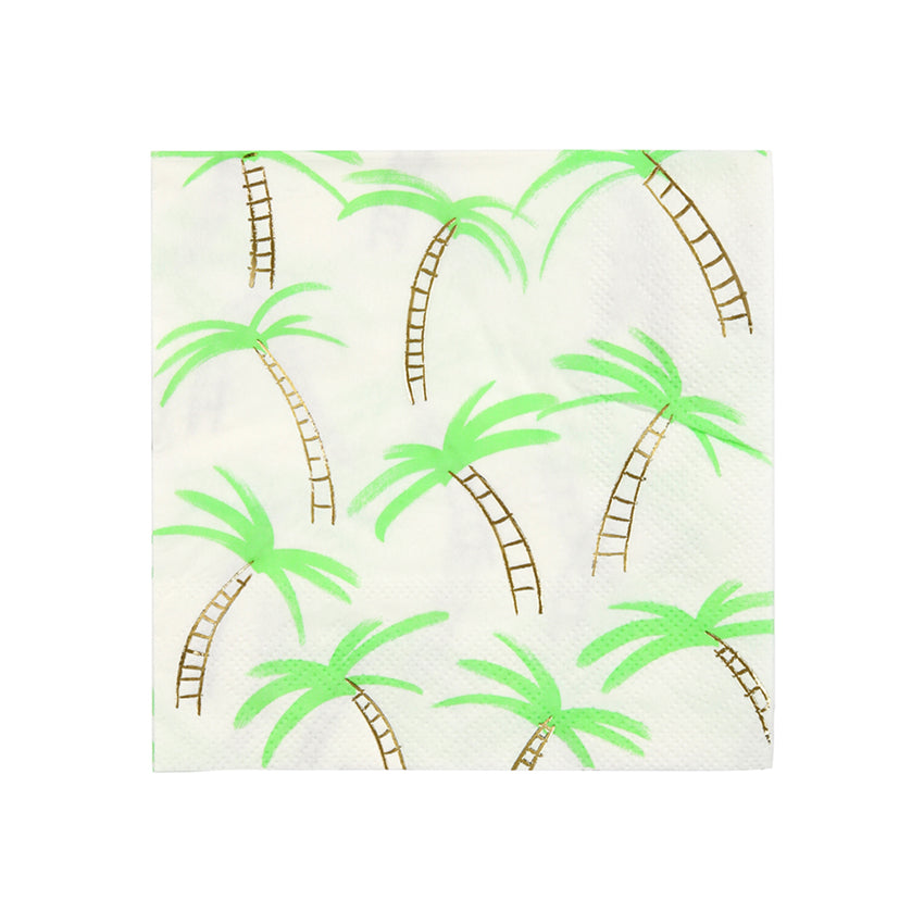 Meri Meri Palm Trees Paper Napkins - Small