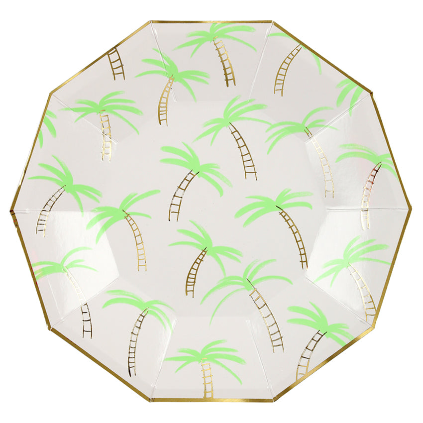 Meri Meri Palm Trees Paper Plates - Large, MM-Meri Meri UK, Putti Fine Furnishings