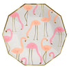 Meri Meri Flamingo Paper Plates - Small, MM-Meri Meri UK, Putti Fine Furnishings