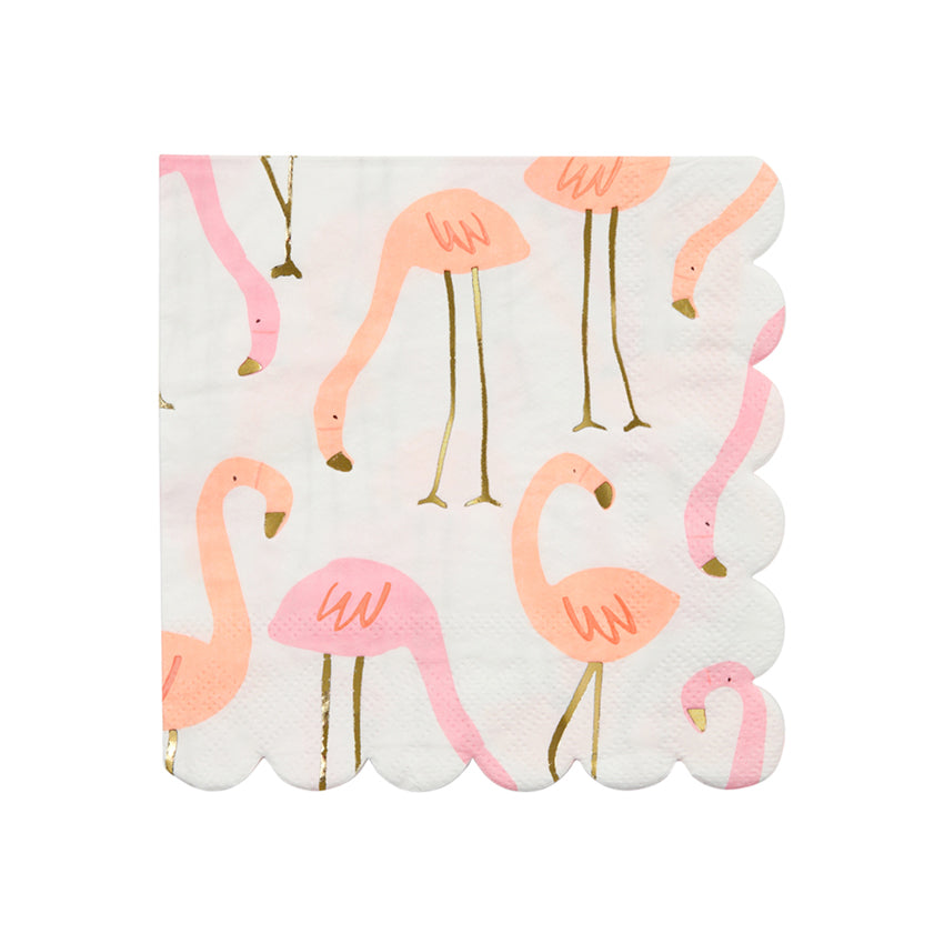Meri Meri Flamingo Paper Napkins - Small