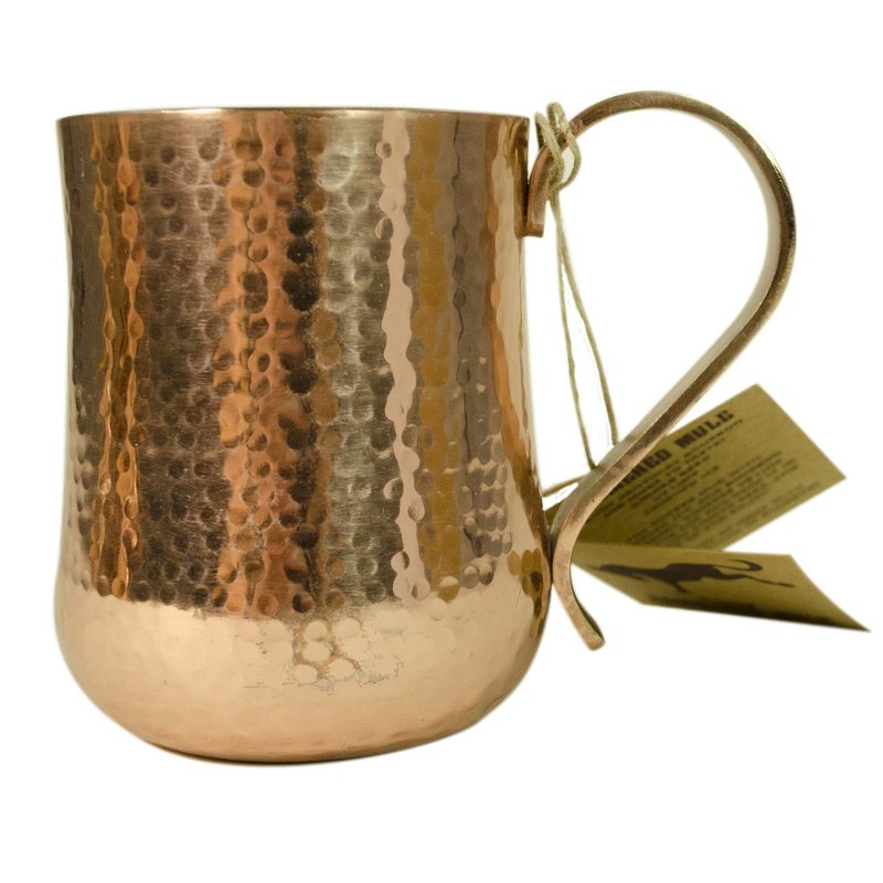 """Hammered Mule"" Copper Mug"
