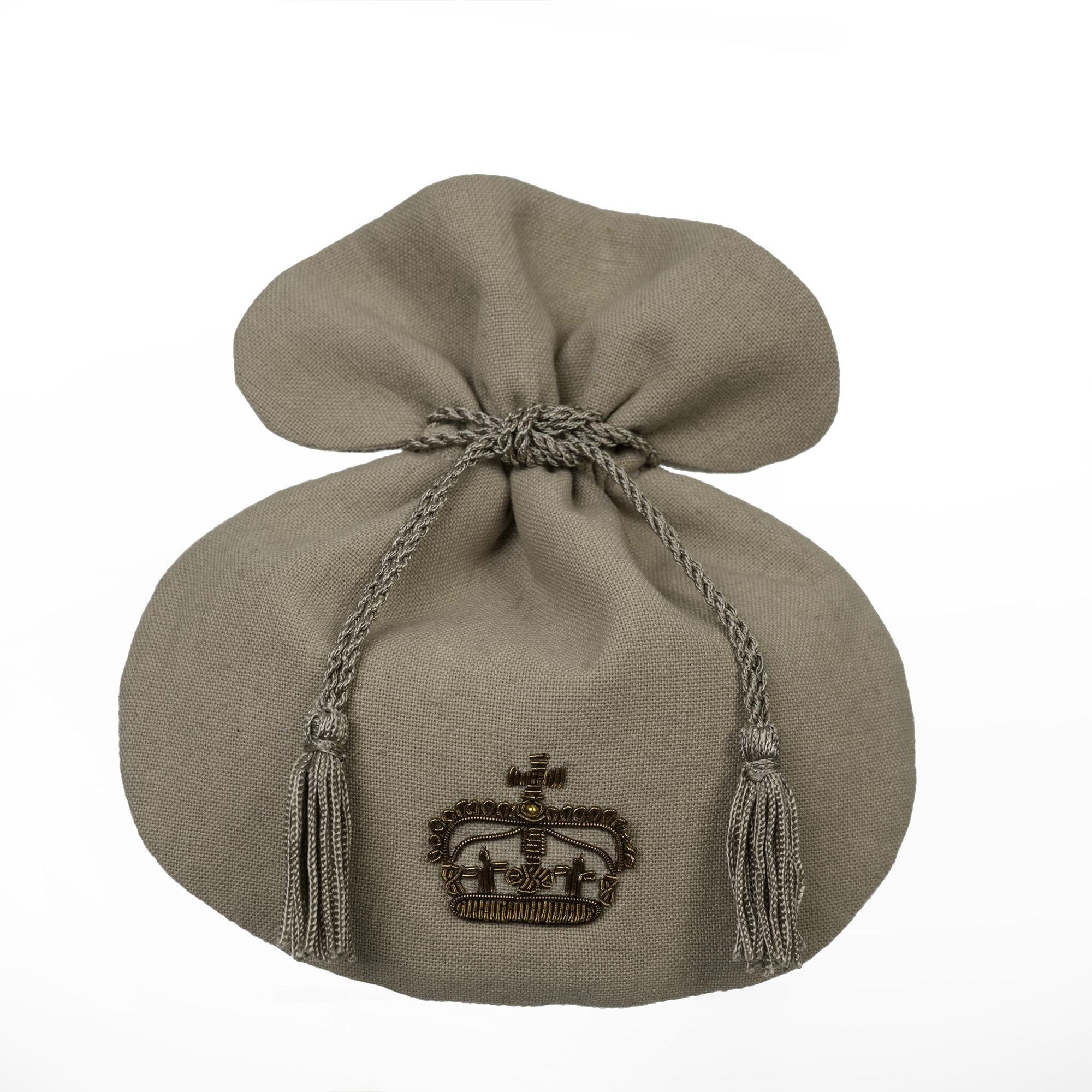 Gilded King Crown Linen Pouch, IT-Indaba Trading, Putti Fine Furnishings