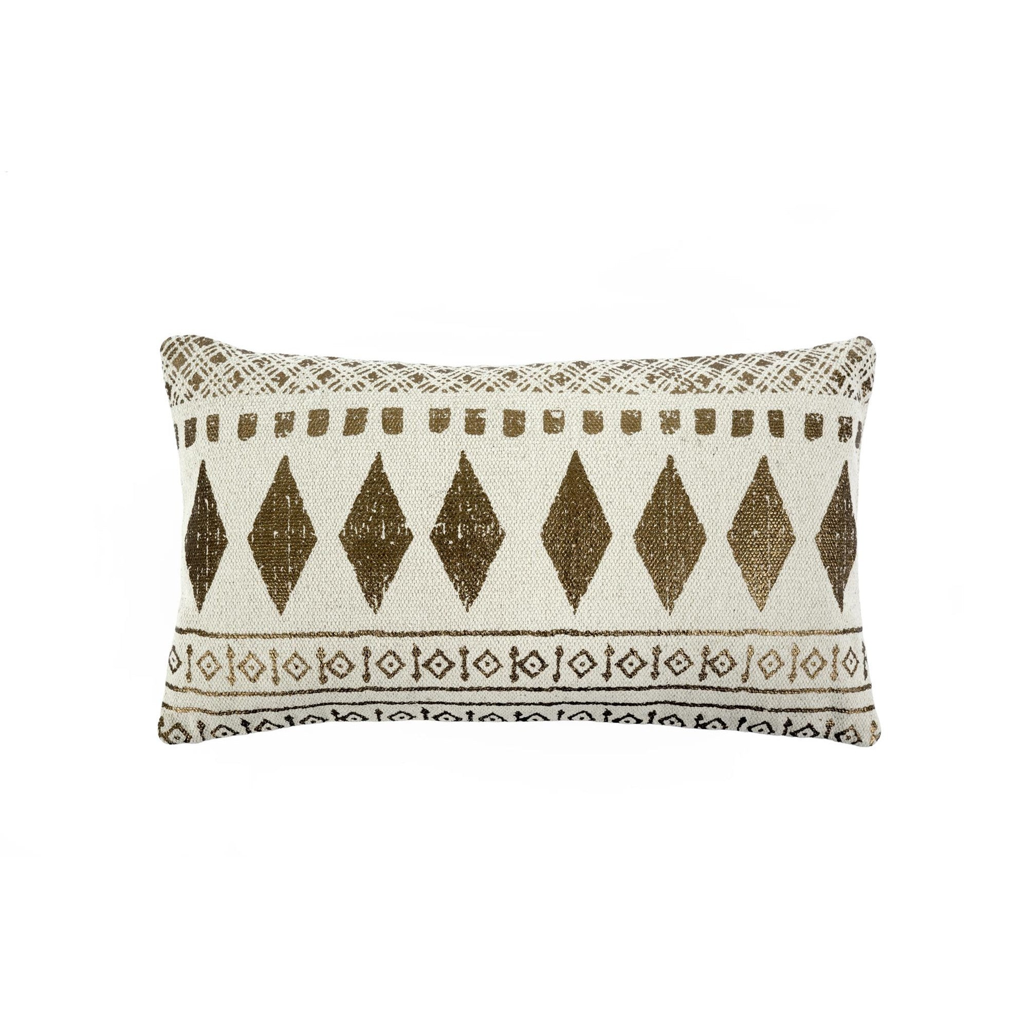 Diamond Motif Copper Cushion - Rectangular, IT-Indaba Trading, Putti Fine Furnishings