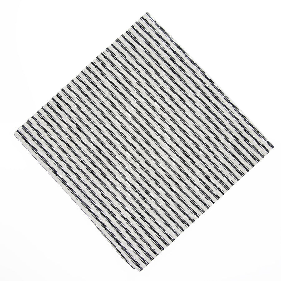 French Ticking Napkin  - Black