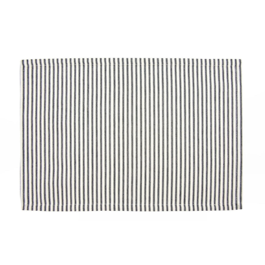 French Ticking Placemat  - Black