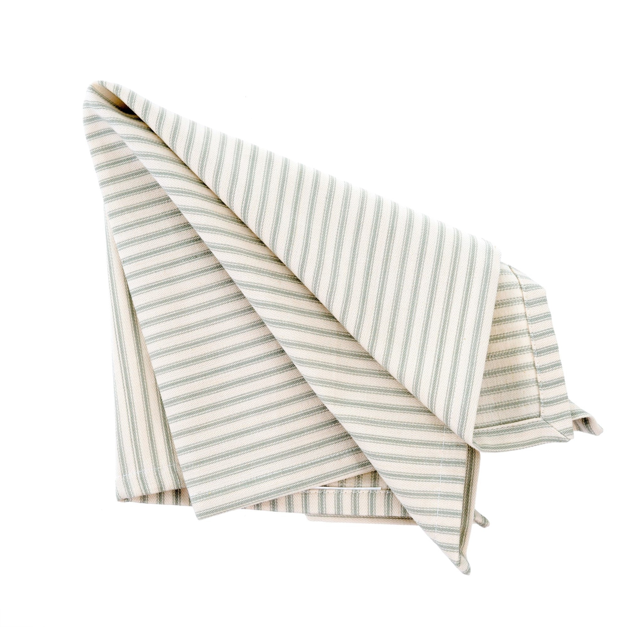 French Ticking Napkin - Grey