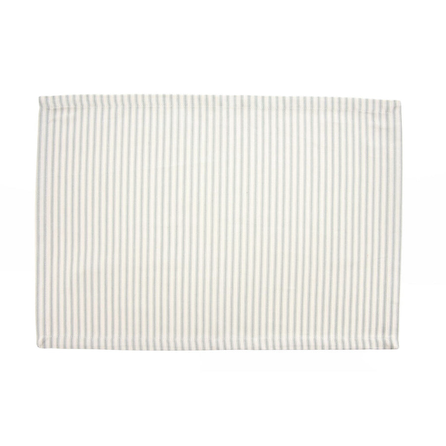 French Ticking Placemat  - Grey