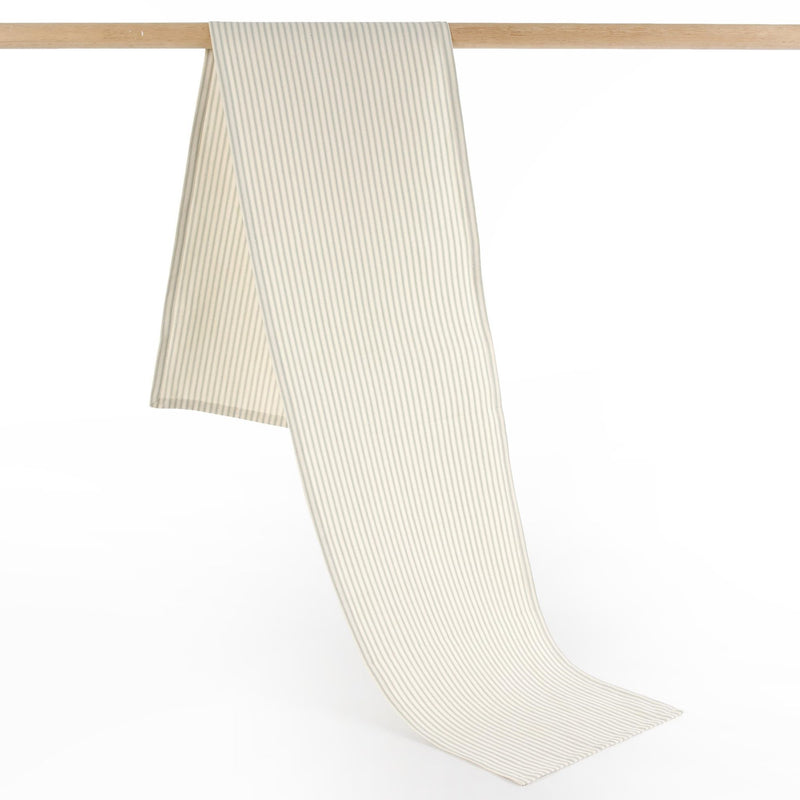 French Ticking Table Runner - Grey