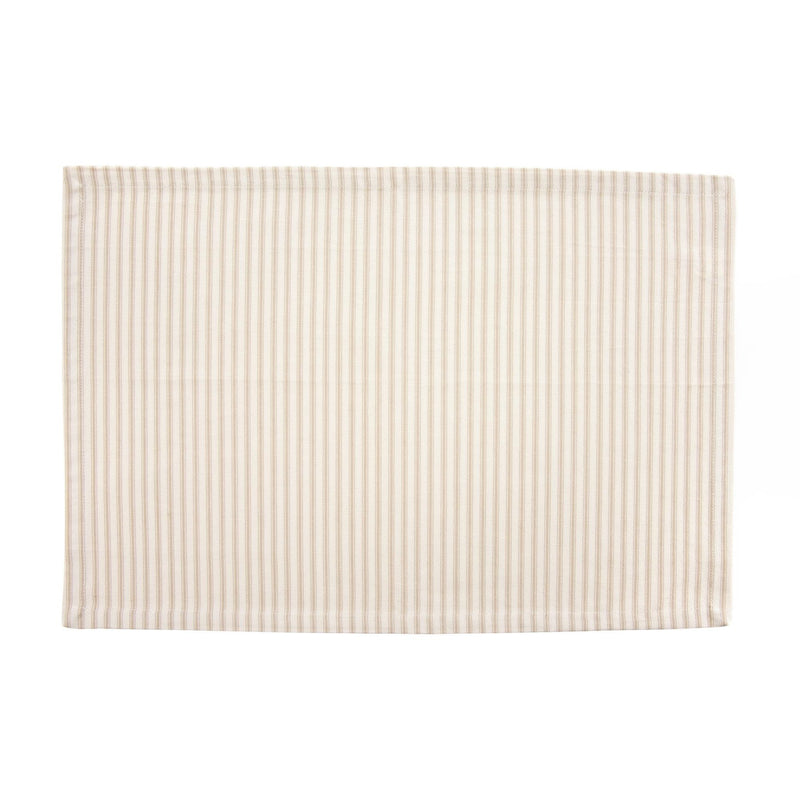 French Ticking Placemat  - Beige