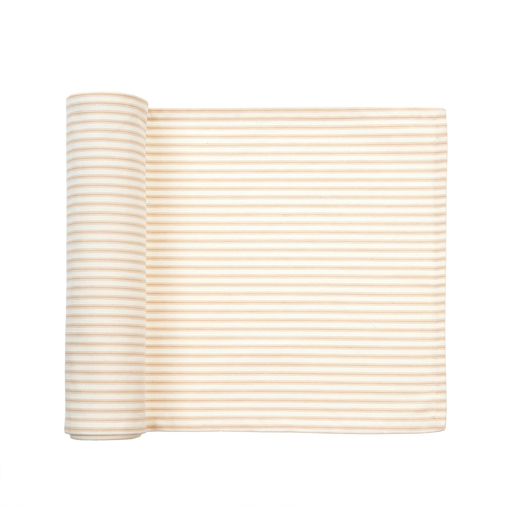 French Ticking Table Runner - Beige