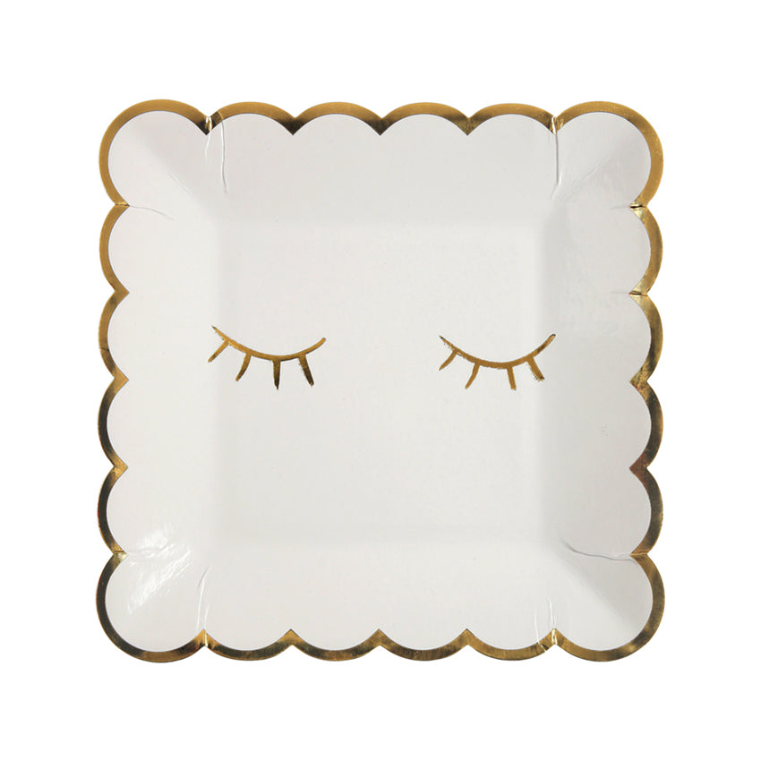 Meri Meri Gold Foil Blink Paper Plates - Small, MM-Meri Meri UK, Putti Fine Furnishings