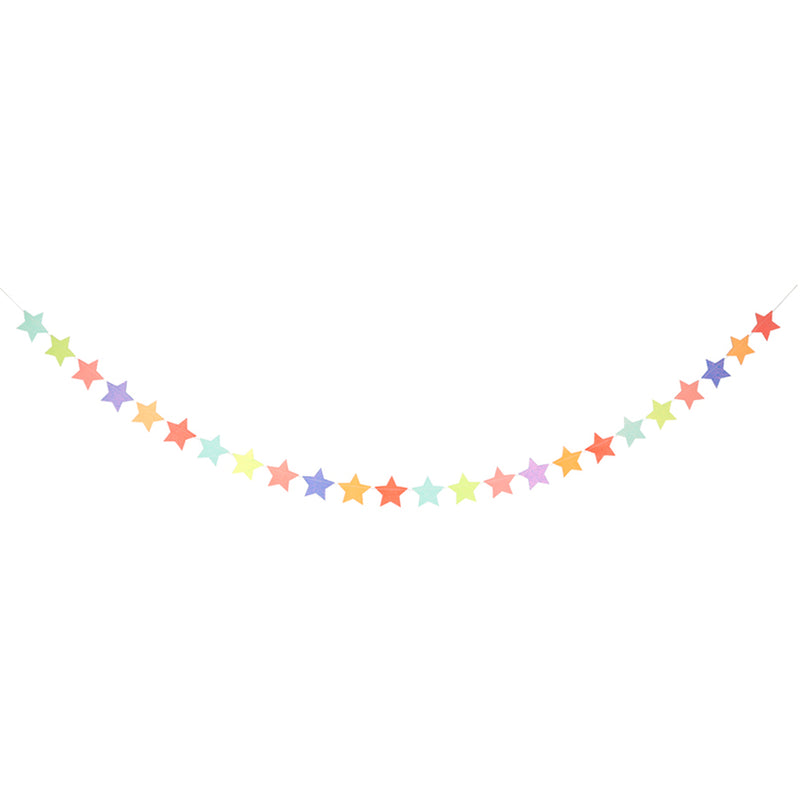 Meri Meri Multi Coloured Star Garland, MM-Meri Meri UK, Putti Fine Furnishings