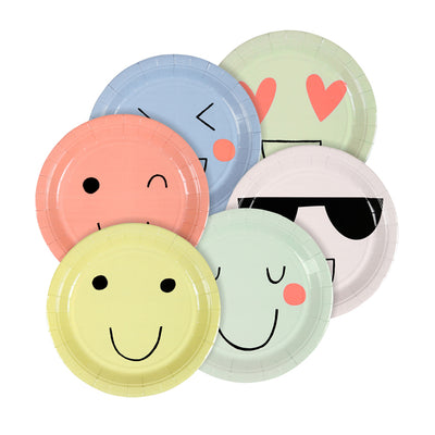 Meri Meri Emoji Paper Plates - Small, MM-Meri Meri UK, Putti Fine Furnishings