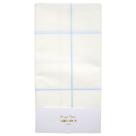 Meri Meri Blue Grid Paper Tablecloth