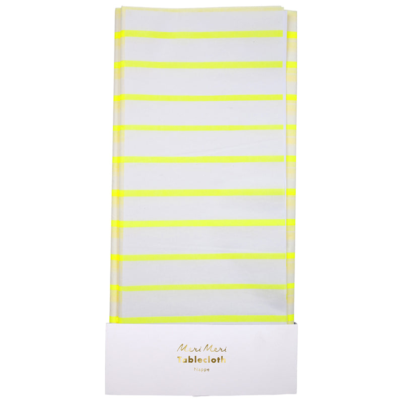 Meri Meri Yellow Stripe Paper Tablecloth, MM-Meri Meri UK, Putti Fine Furnishings