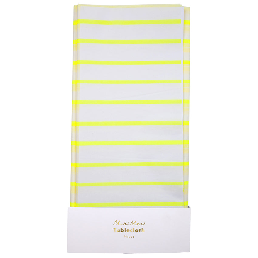 Meri Meri Yellow Stripe Paper Tablecloth