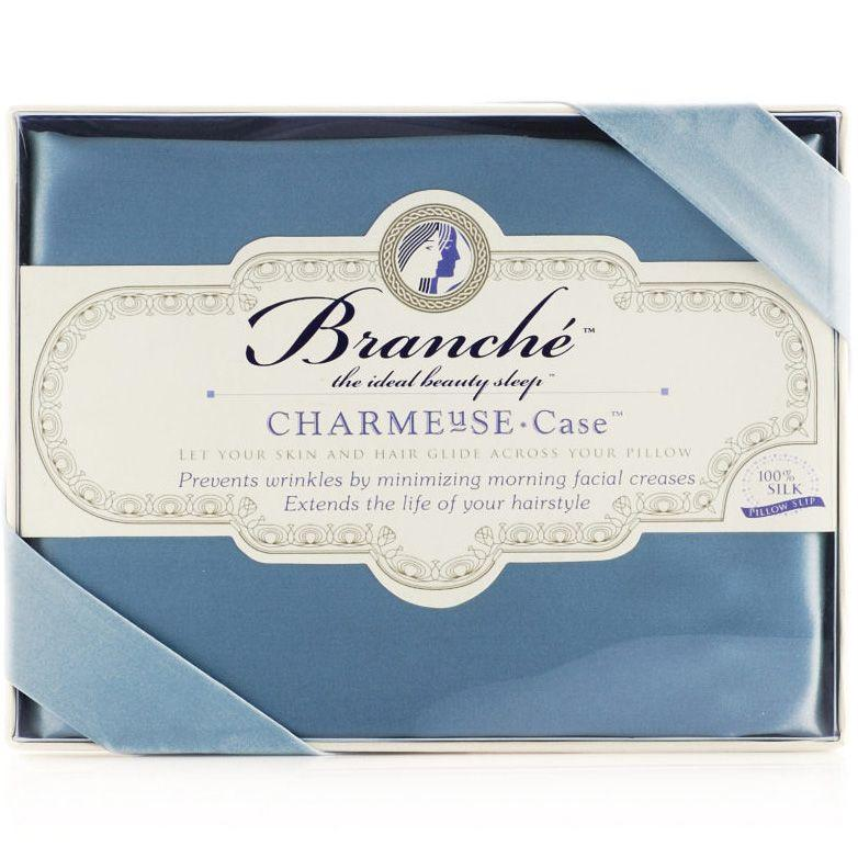 Branche Silk Charmeuse Pillowcase - Blue