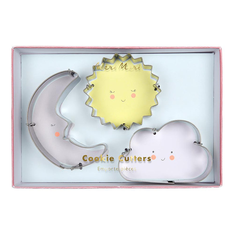 Sun, Moon and Cloud Cookie Cutter