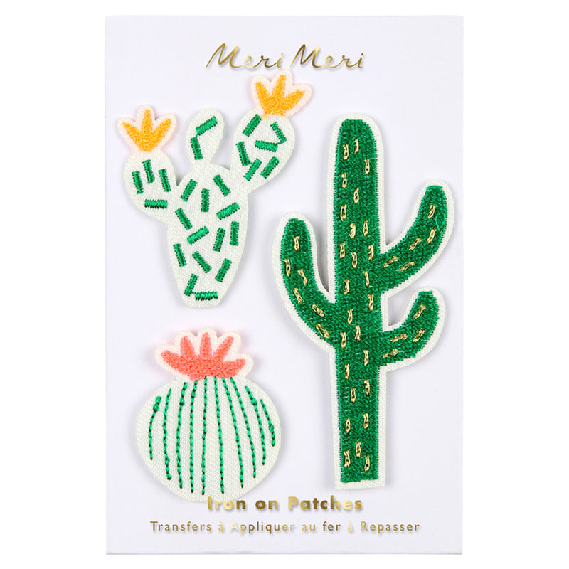 Meri Meri Cactus Embroidered Patches