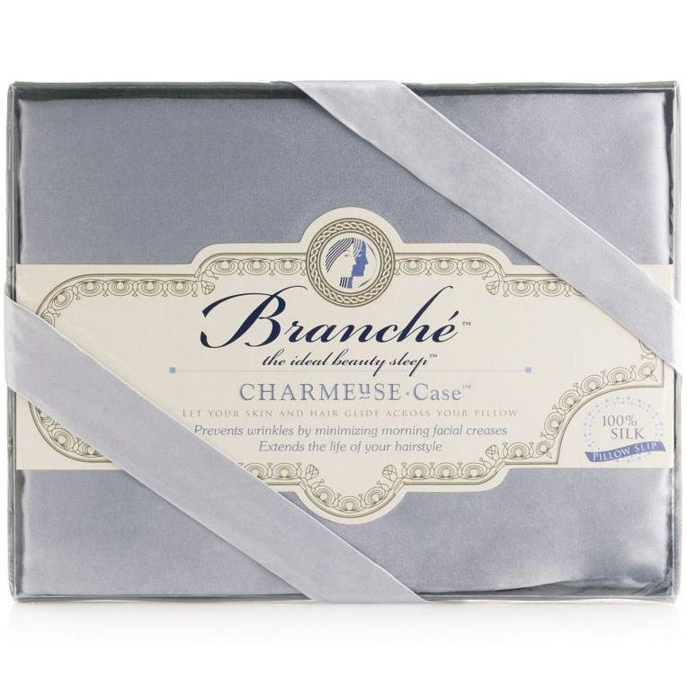 Branche Silk Charmeuse Pillowcase - Silver