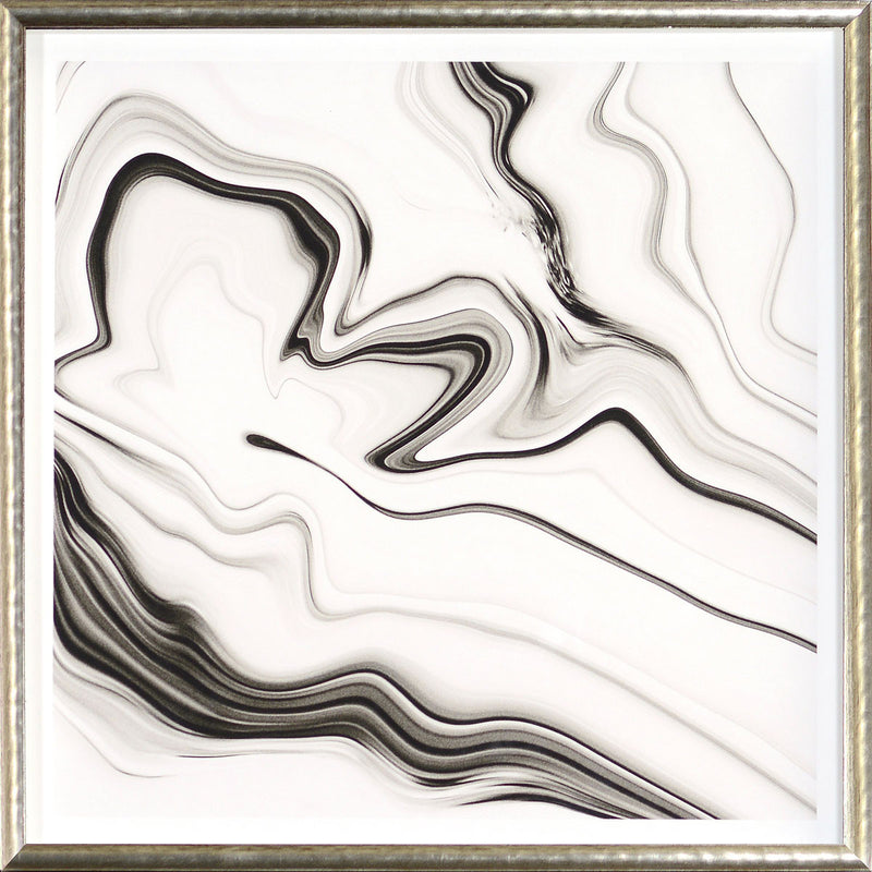 """Marbled Motion III"" Framed Print"