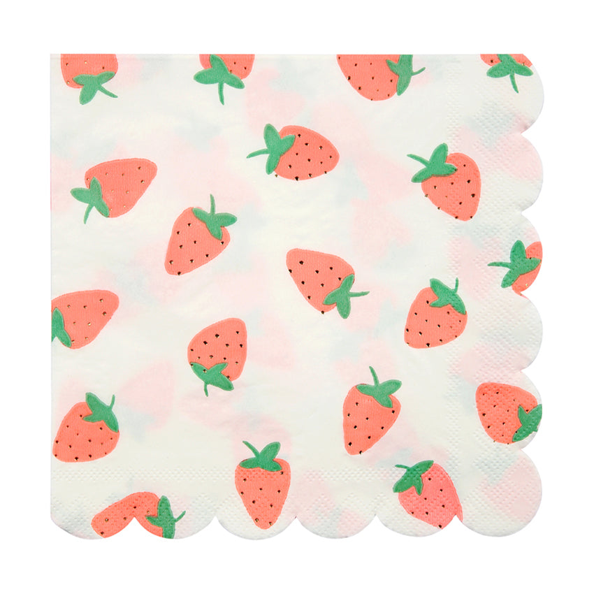 Meri Meri Strawberry Paper Napkins - Large