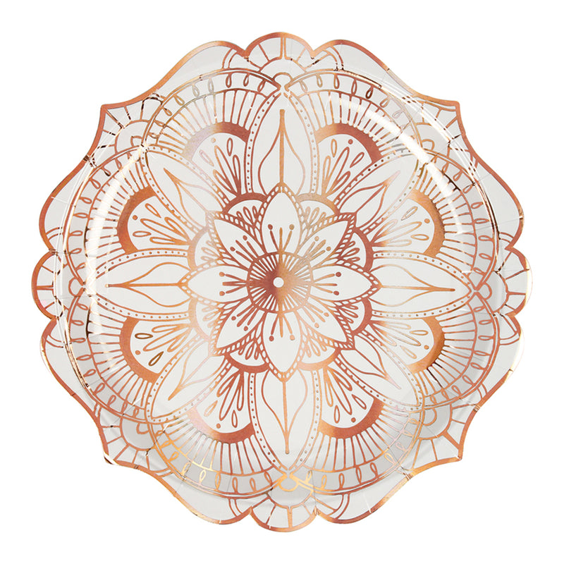 Meri Meri Mandala Pattern Paper Plates - Large, MM-Meri Meri UK, Putti Fine Furnishings