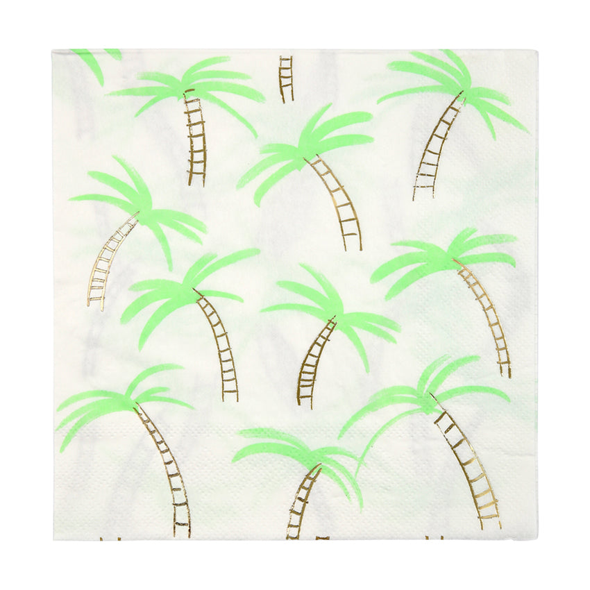 Meri Meri Palm Trees Paper Napkins - Large, MM-Meri Meri UK, Putti Fine Furnishings